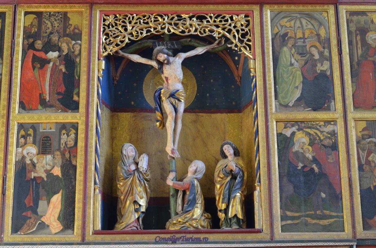 detaliu altar biserica biertan