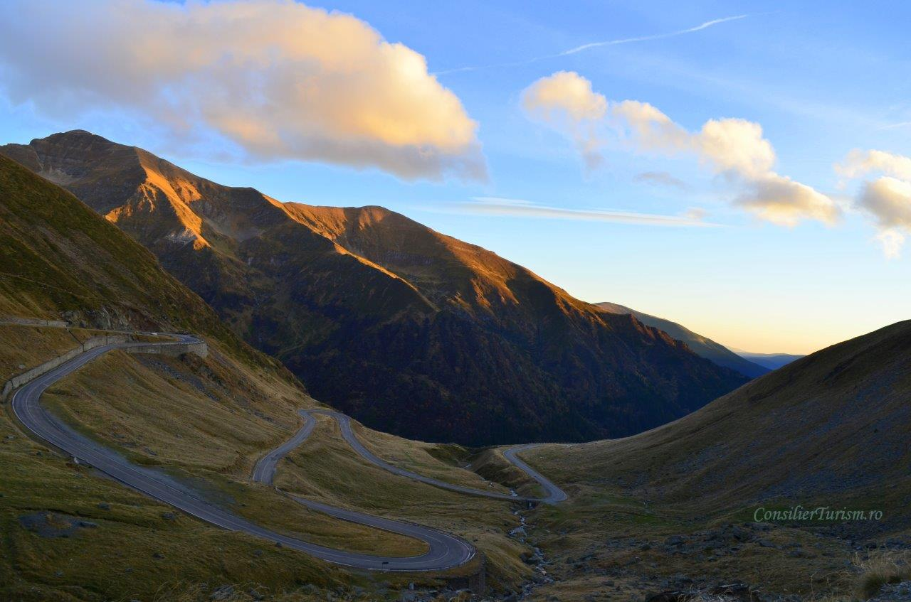 transfagarasan alpine road sunset