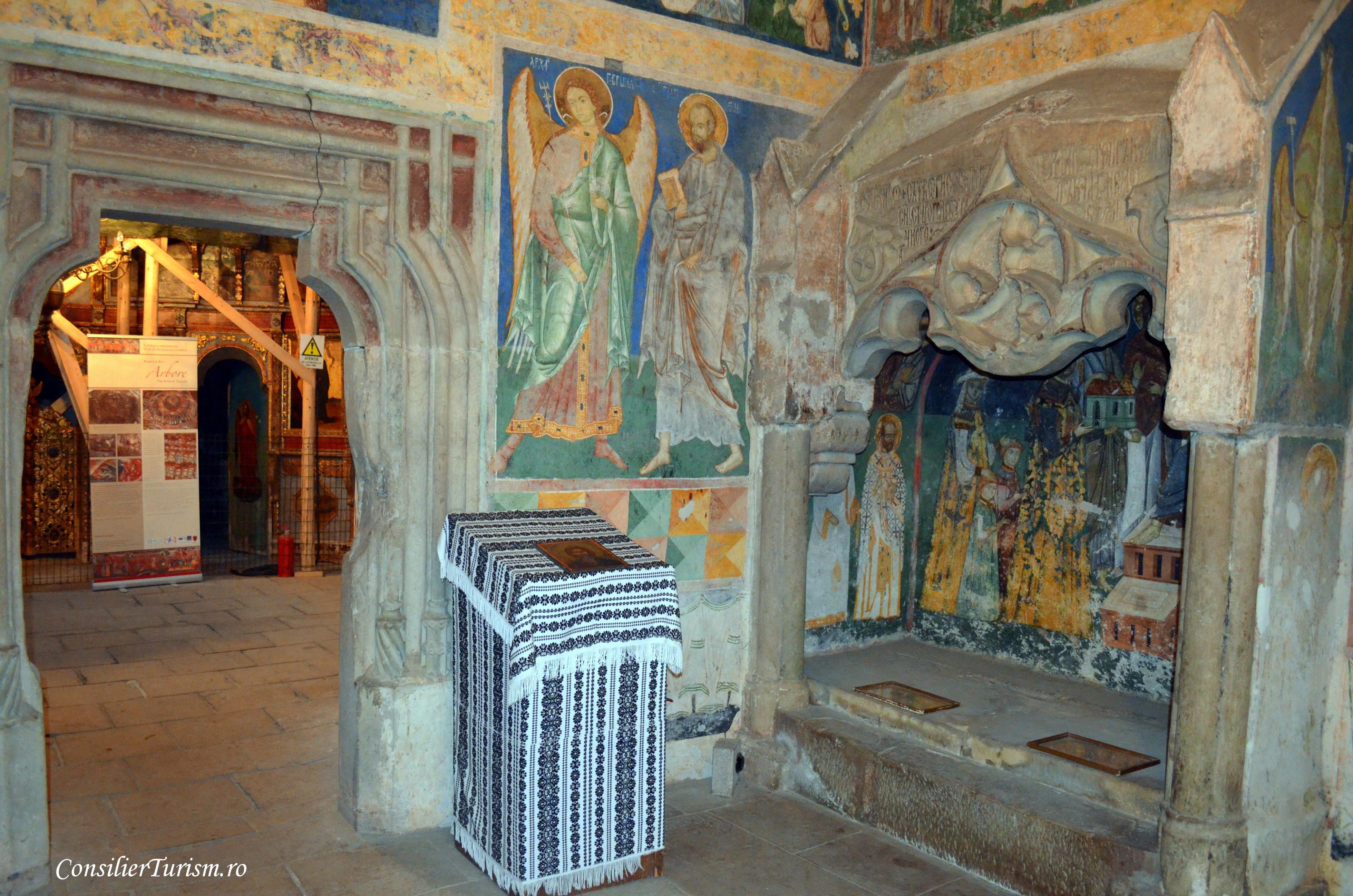 manastirea arbore interior