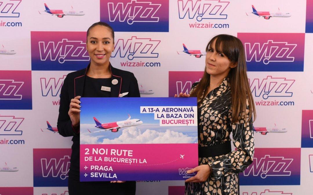 Wizz Air lansează noi rute către Praga și Sevilla și continuă extinderea în București