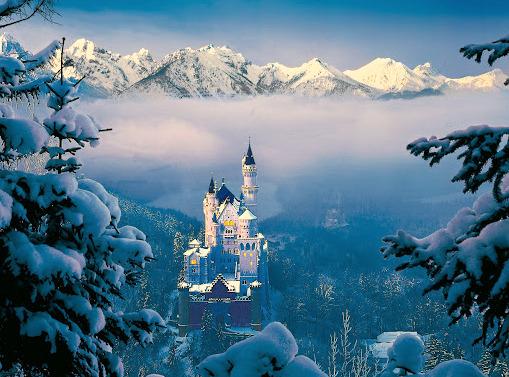 """Pe urmele """"Regelui Nebun"""" (I): o zi la Neuschwanstein, castelul Frumoasei din Padurea Adormita"""